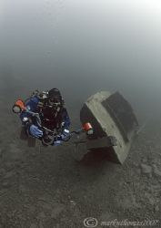 Dirk on Gypsy Moth wreck.